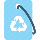 eco, label, recycling, reusable, tag