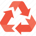arrows, ecology, environmental, recycling, reuse icon