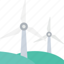 ecology, energy, power, turbine, windmill icon