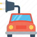 automobile, eco car, electric car, plug, vehicle icon