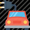 automobile, eco car, electric car, plug, vehicle