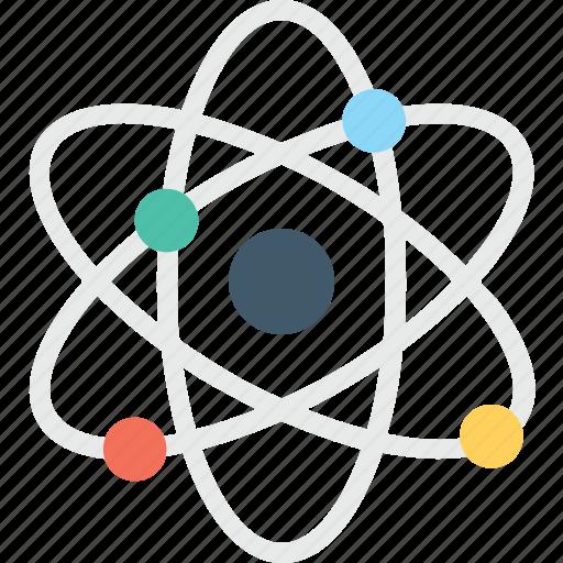 atom, molecule, nuclear, orbit, orbital, proton icon