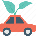 automobile, car, eco car, eco friendly, leaf icon