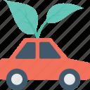 automobile, car, eco car, eco friendly, leaf icon