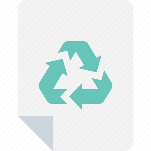document, eco article, ecology, paper recycling, recycling icon