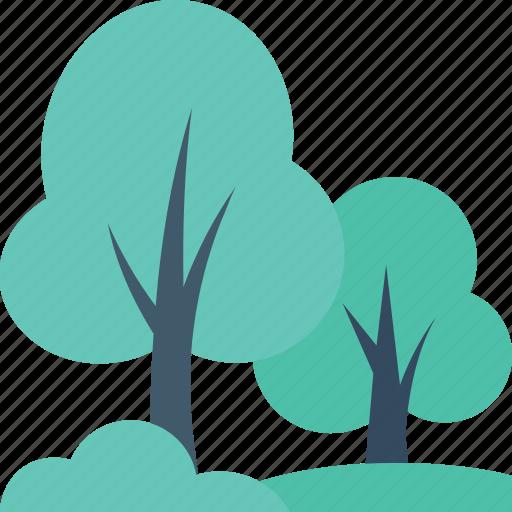 ecology, foliage, forest, shrub tree, tree icon