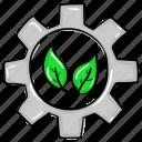 eco gear, eco power, eco setting, ecology process, ecology settings icon
