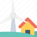 energy, farm house, power, wind energy, windmill icon