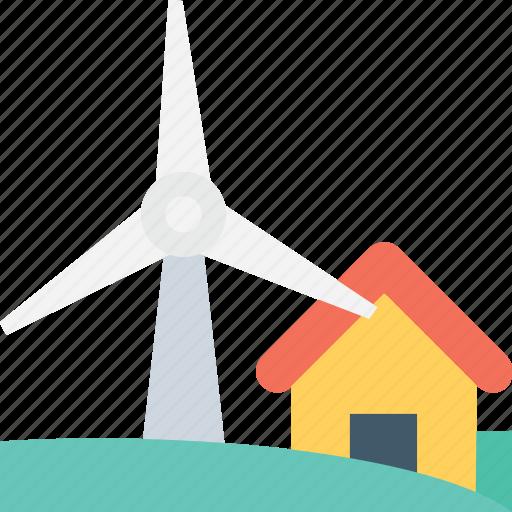 energy, farm house, power, wind energy, windmill icon