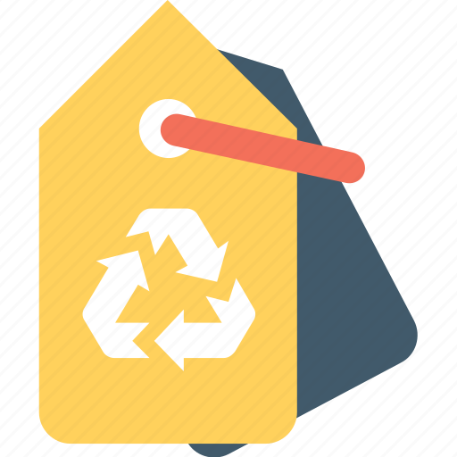 eco, label, recycling, reusable, tag icon