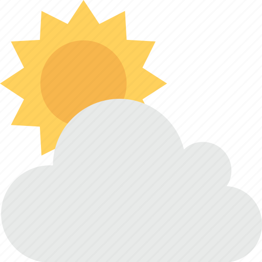 bright day, cloud, morning, sun, sunny day icon