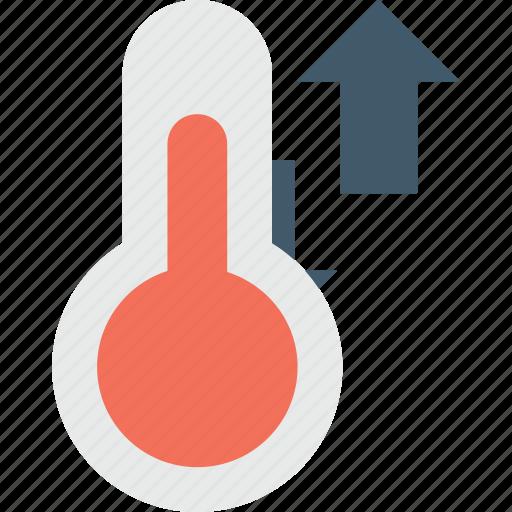 celsius, fahrenheit, high temperature, temperature, thermometer icon