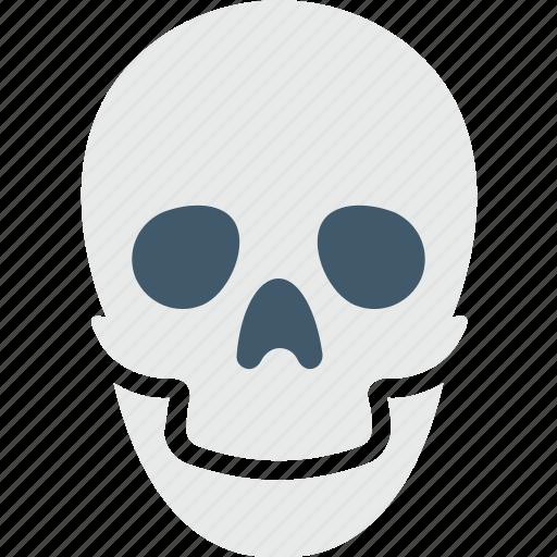 danger, skeleton, skull, toxic, warning sign icon