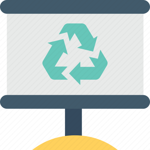 awareness, billboard, recycling, reuseable, signboard icon