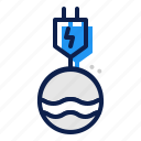 ecology, energy, hydroelectric, water icon