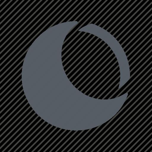 astronomy, moon, quarter, second icon