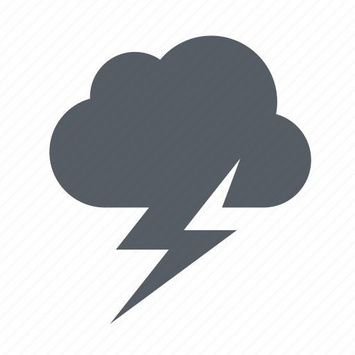 cloud, forecast, lightning, thunder, thunderstorm, weather icon