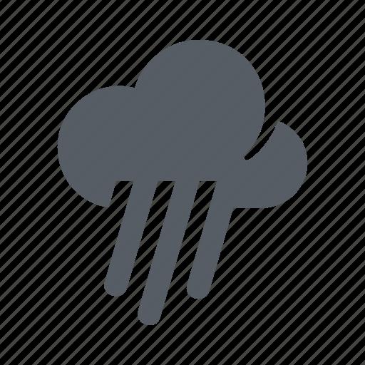 cloud, forecast, heavy, rain, shower, weather icon