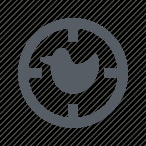 animal, bird, duck, gun, hunt, nature icon