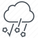climate, cloud, forecast, hail, weather icon
