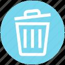 basket, cleaning bin, dust bin, recycle bin, trash