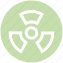 abstraction, ecology, nature, radiation, waste icon