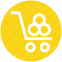 cart, nature, park, wood, wood in cart icon