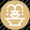 elements, fountain, garden fountain, park, water, yard fountain icon