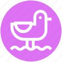 duck, duck in water, duck swimming, nature, park, rubber duck, water icon