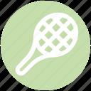 athletics, game, play, rocket, sports, tennis icon