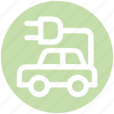 car, charge, charging, electric, electrical, park, plug icon