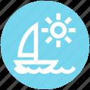 boat, motorboat, nature, sea, summer, sun, water