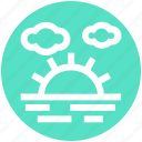 clouds, nature, park, sea, summer, sun icon