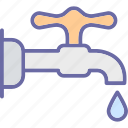 ecology, faucet, nature, pipe, water icon