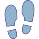 foot trace, footprint, human, trace icon