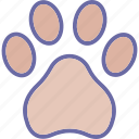 dog, dog foot, footprint, trace icon