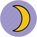 crescent, moon, new moon, night, night mode, sky icon
