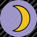 crescent, moon, new moon, night, night mode, sky icon