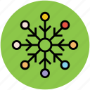 decorative, ice, snow, snowflake, weather, winter icon