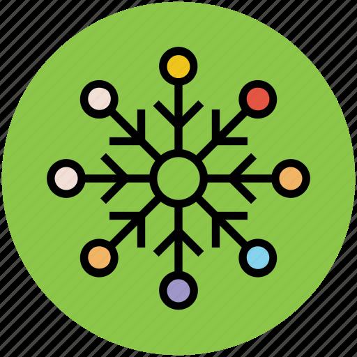 decorative, ice, snow, snowflake, weather, winter icon
