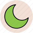 crescent moon, lunation, moonlight, new moon icon