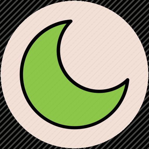 crescent moon, lunation, moonlight, new moon icon
