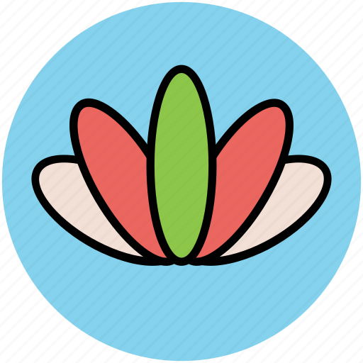 botanical, flower, lotus flower, nature, springtime, waterlily icon