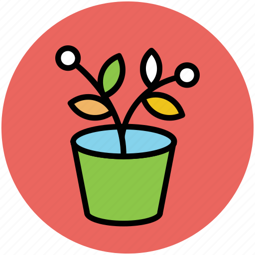 leafy, leafy plant, nature, plant, plant pot icon