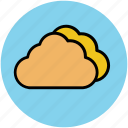 clouds, cloudy weather, forecast, puffy clouds, weather, weather outlook icon