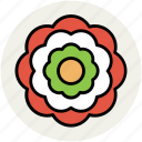 creative flower, decorative, flower, flower shape icon