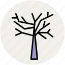 autumn tree, halloween tree, nature, tree, tree in autumn icon