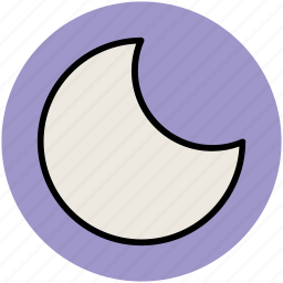 crescent, moon, new moon, night, sky icon