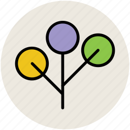 bough, dotted leaf, generic, leafs bough, leafs limb, limb, tree branch icon