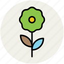 daisy, daisy stem, flower, flowering stem, nature, stem icon